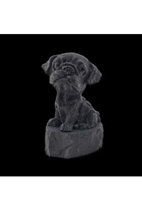 Фигурка Пёс из шунгитовой крошки