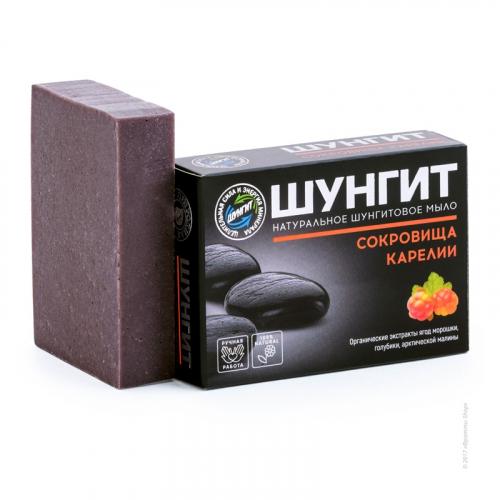 Натуральное шунгитовое мыло «Сокровища Карелии»