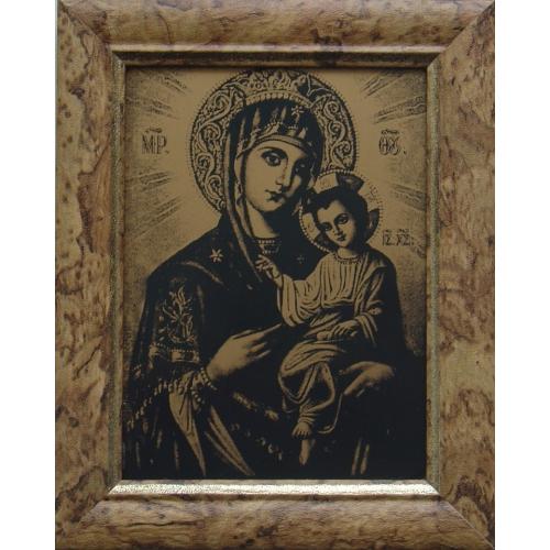 Изображение Божьей Матери  в рамке