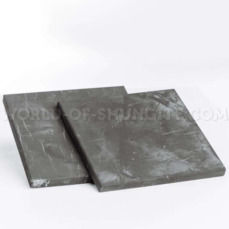 Плитка шунгитовая неполированная 10x10cm