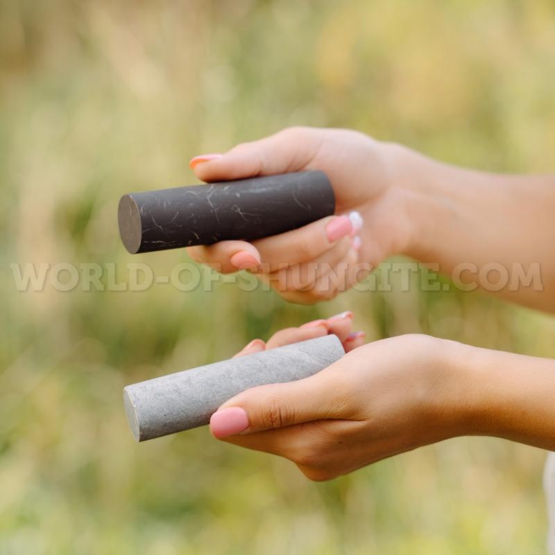Цилиндры-гармонизаторы шунгит и талькохлорит неполированные
