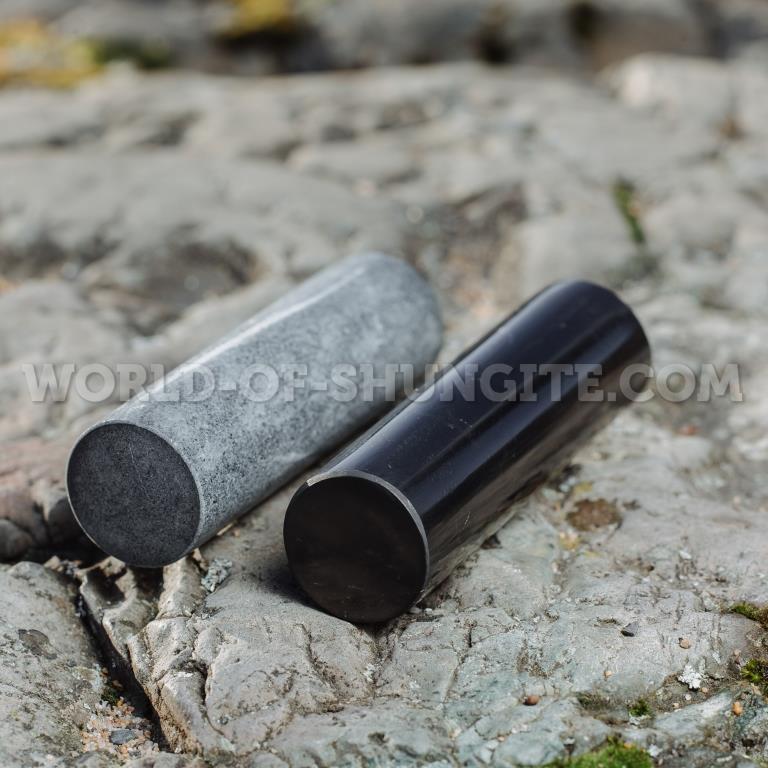 Цилиндры-гармонизаторы шунгит и талькохлорит полированные