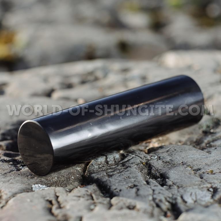 Цилиндр  из шунгита полированный