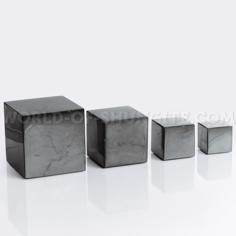 Куб шунгитовый полированный 2 см