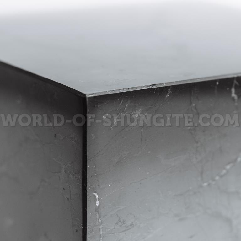 Куб шунгитовый полированный 9 см
