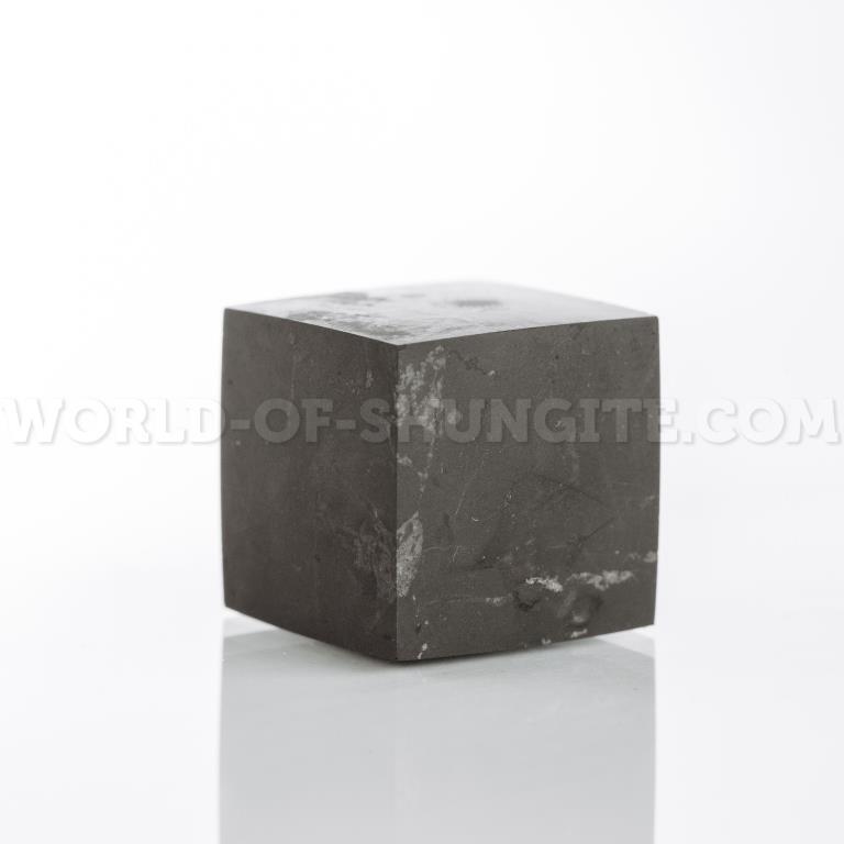Куб шунгитовый неполированный 2 см