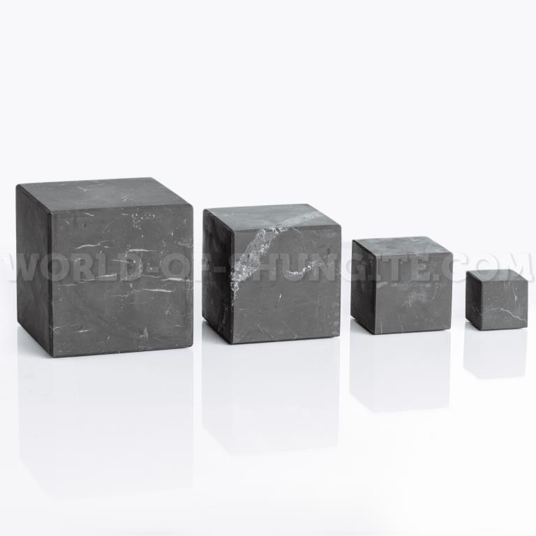 Куб шунгитовый неполированный 5 см