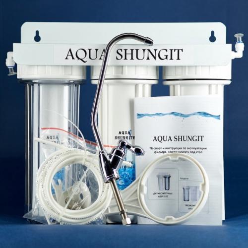 Тройная питьевая система с выводом крана ( шунгит, цеолит)