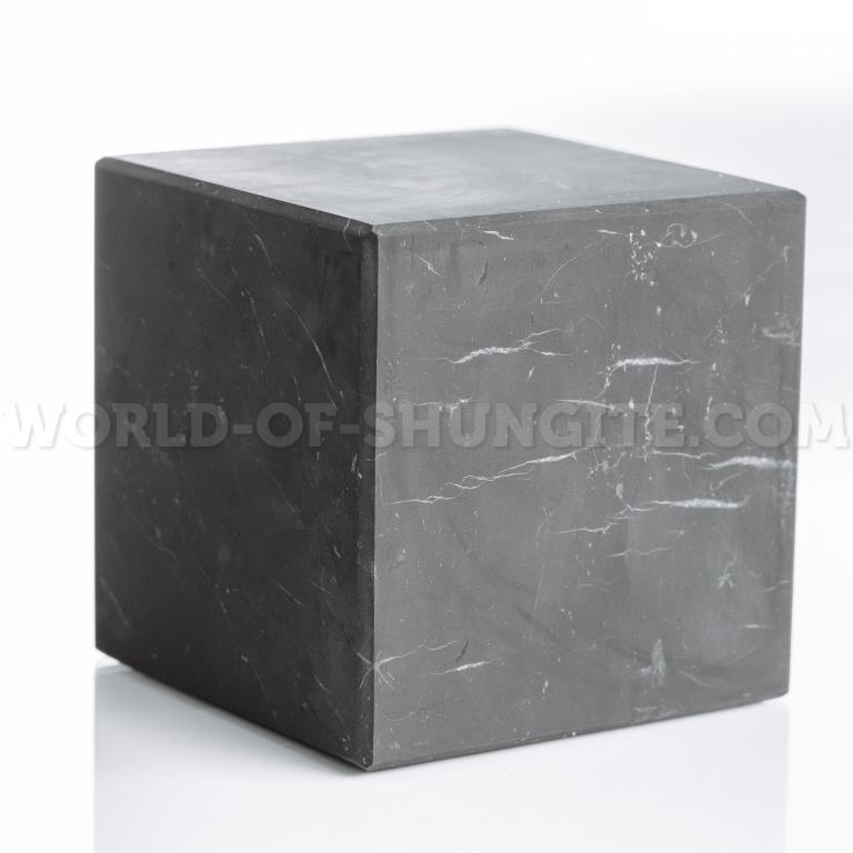 Куб шунгитовый неполированный 6 см