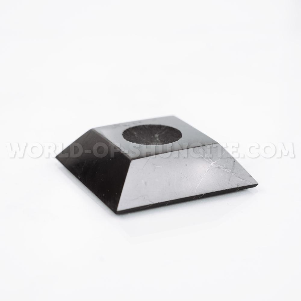 Подставка под шар квадратная малая из шунгита