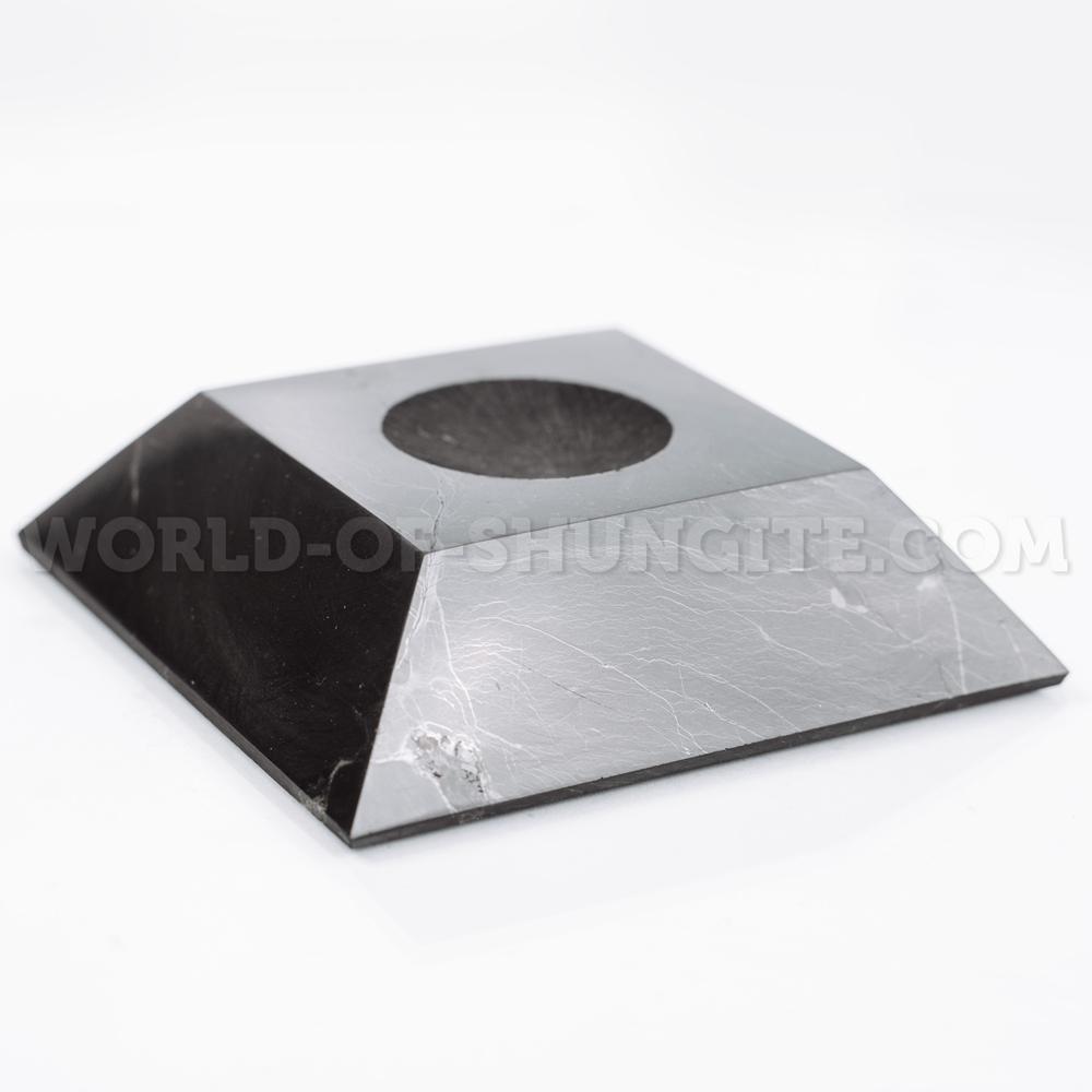 Подставка под шар квадратная большая из шунгита