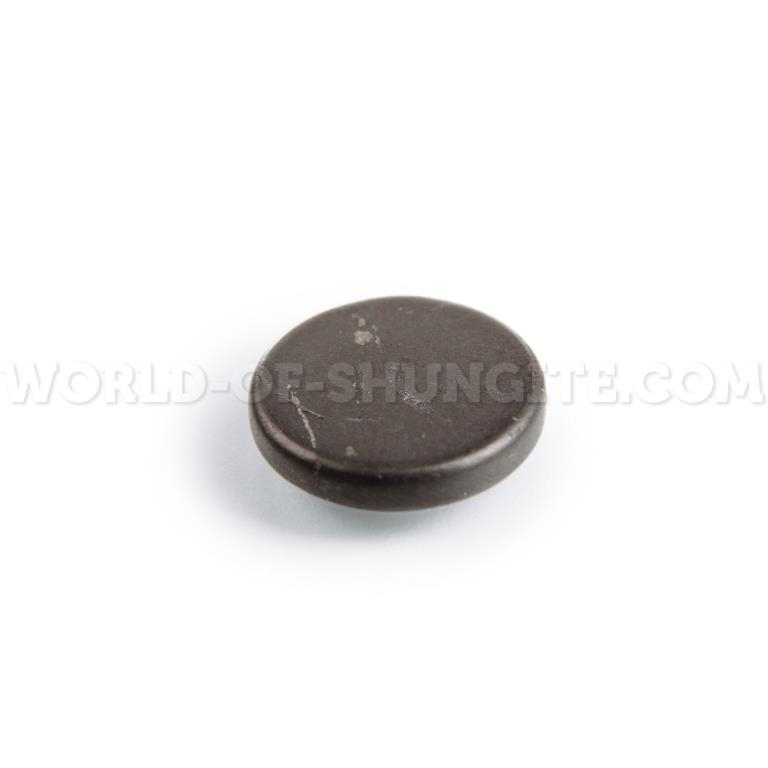 Пластинка для сотового телефона неполированная круглая 19 мм  из шунгита.