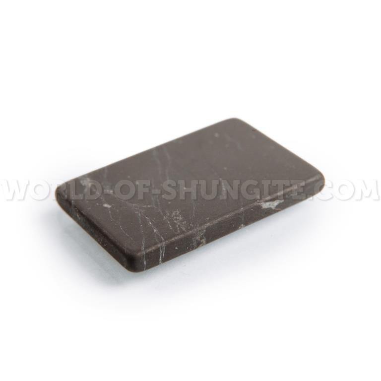 Пластинка для сотового телефона неполированная прямоугольная 30x20 мм  из шунгита.