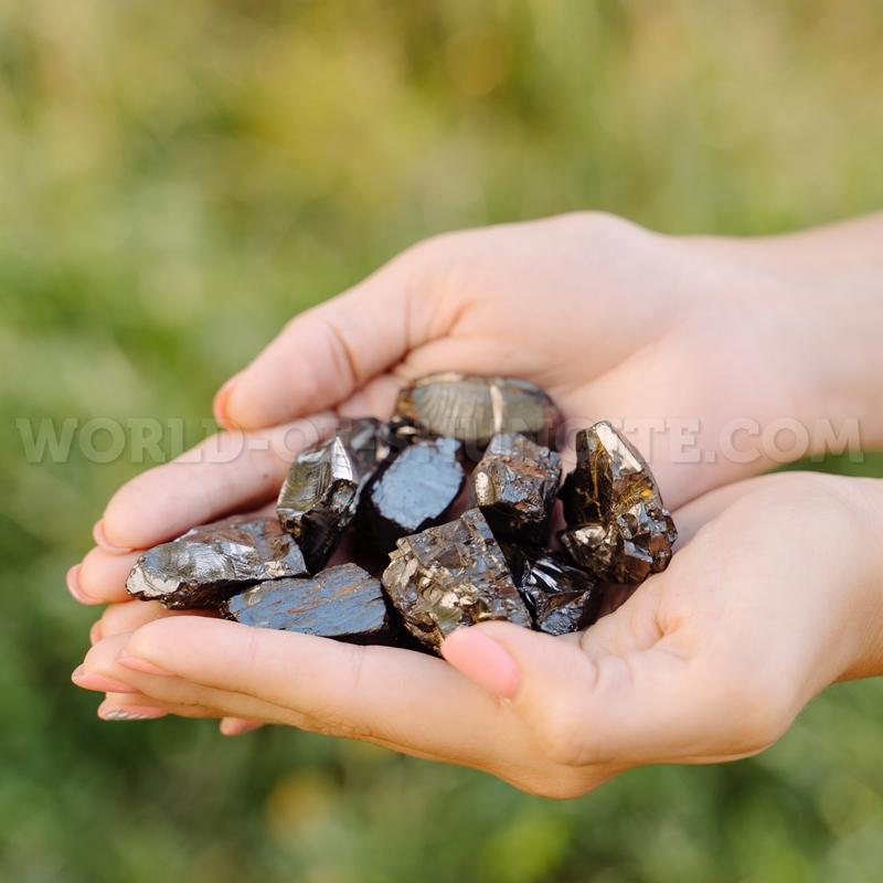 Куски элитного шунгита 5-14 грамм