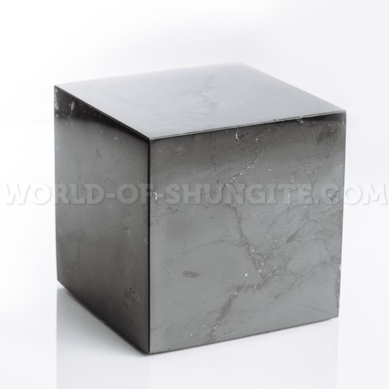 Куб шунгитовый полированный 20 см