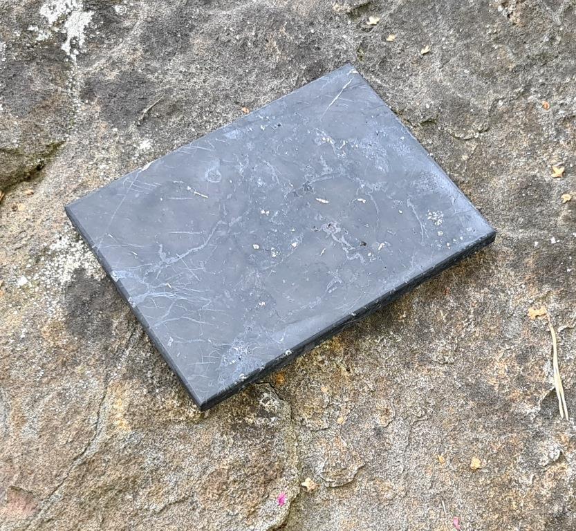 Плитка шунгитовая неполированная 9х12cm
