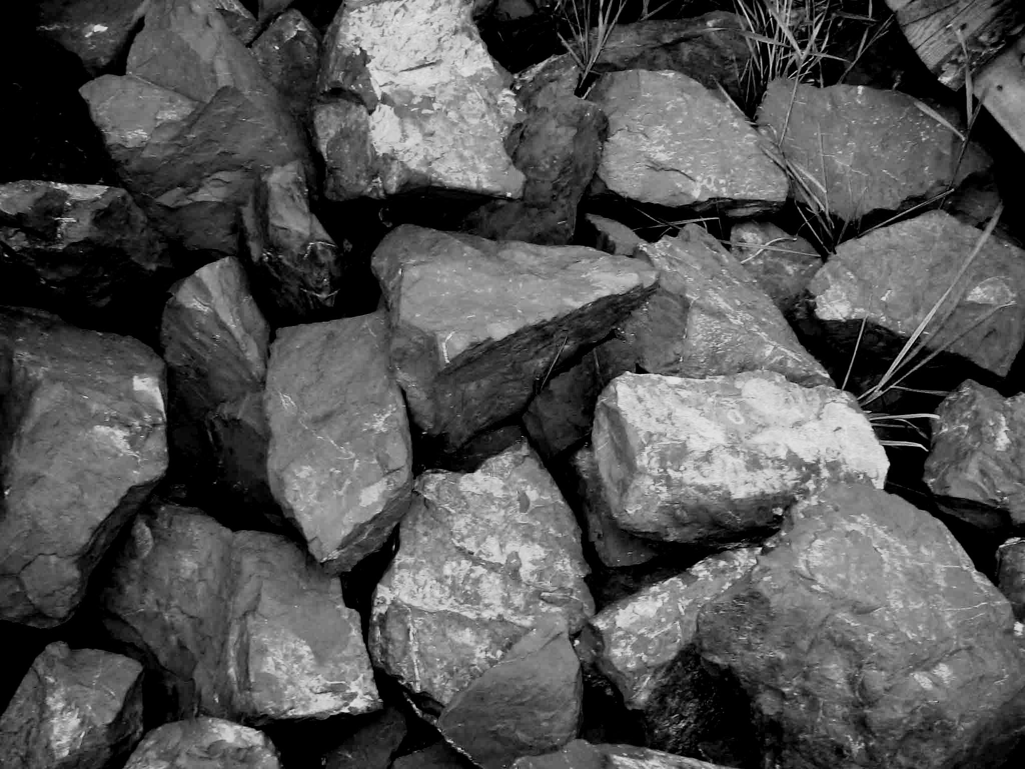 Необработанный камень для ландшафта из шунгита.